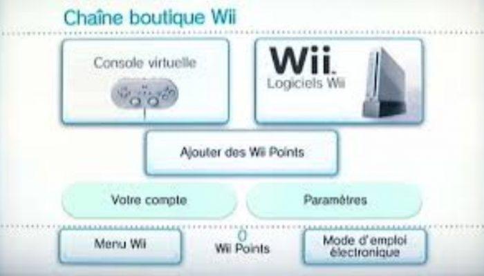 Nintendo France : 'Informations importantes concernant la fermeture de la chaîne boutique Wii'