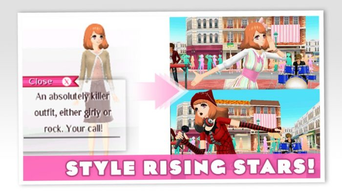 Here's a couple of screenshots from Style Savvy Styling Star