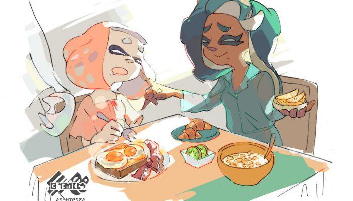 Here's the artwork for the Warm breakfast vs. Cold breakfast European Splatfest