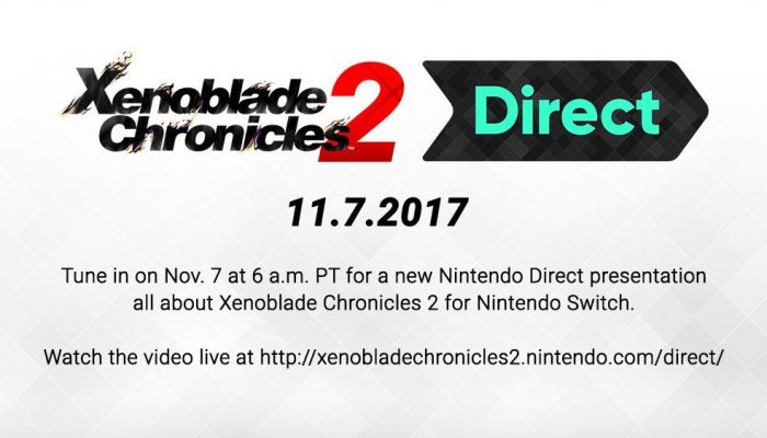 Xenoblade Chronicles 2 Direct announced for November 7 at 6 AM PT
