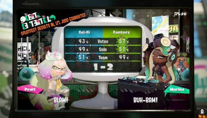 Marina wins her first in-game Splatfest in North America
