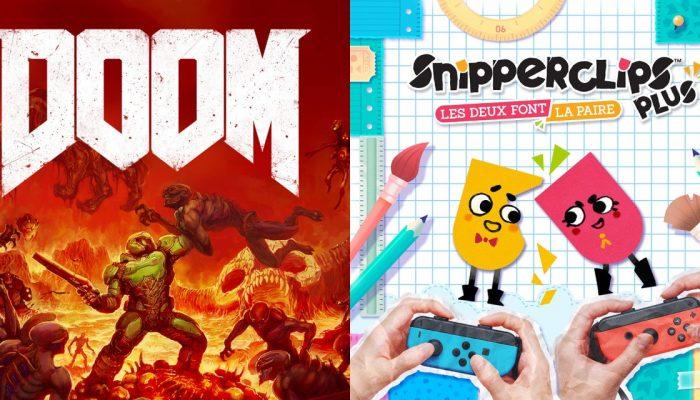 Nintendo France : 'Snipperclips Plus et Doom sont désormais disponibles en boutique et sur le Nintendo eShop'