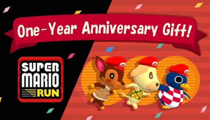 Animal Crossing Pocket Camp also celebrates Super Mario Run's first-year anniversary