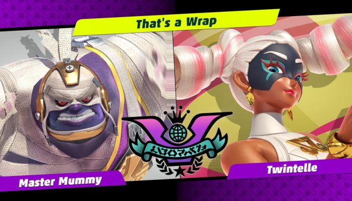 Master Mummy vs. Twintelle Crash in Arms