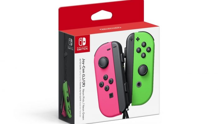 Neon Pink and Neon Green Joy-Con coming to North American stores this month
