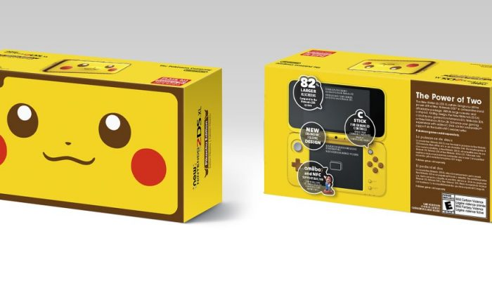 Here's a look at the New Nintendo 2DS XL Pikachu Edition