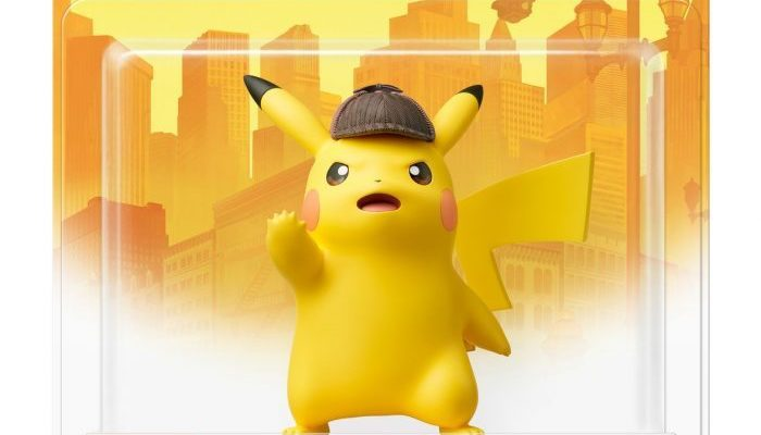 Here's a look at the Detective Pikachu amiibo