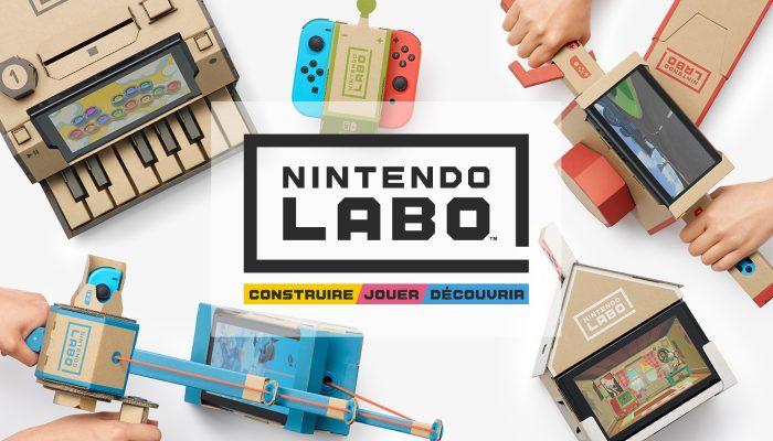 Nintendo France : 'Nintendo Labo : une expérience unique pour construire, jouer et découvrir grâce à la Nintendo Switch'