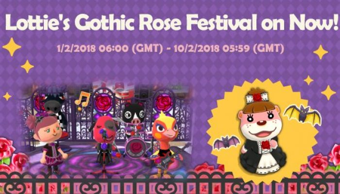 Lottie's Gothic Rose Festival is on in Animal Crossing Pocket Camp