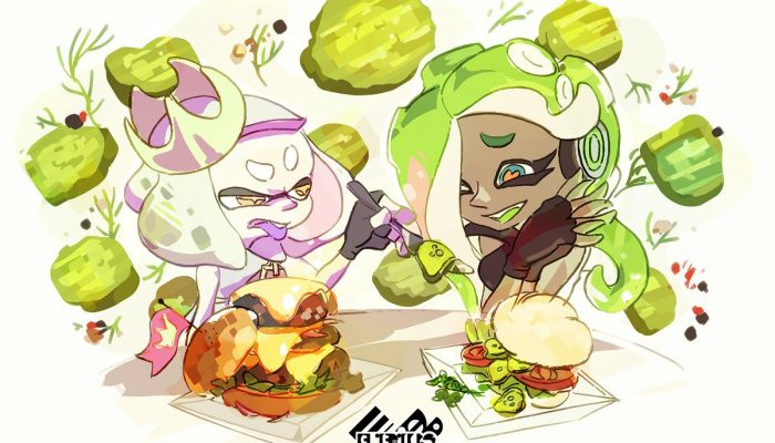 Here's the artwork for the Gherk-In Gherk-Out European Splatfest