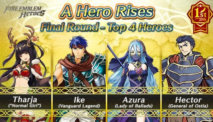 Here are the results for the first round of the Fire Emblem Heroes A Hero Rises event