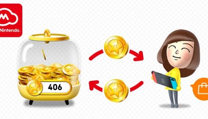 Nintendo France : 'Utilisez vos points or contre des contenus téléchargeables sur le Nintendo eShop de la Nintendo Switch'