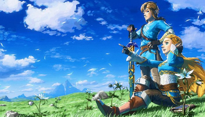 The Legend of Zelda Breath of the Wild with a brand-new artwork for its first-year anniversary