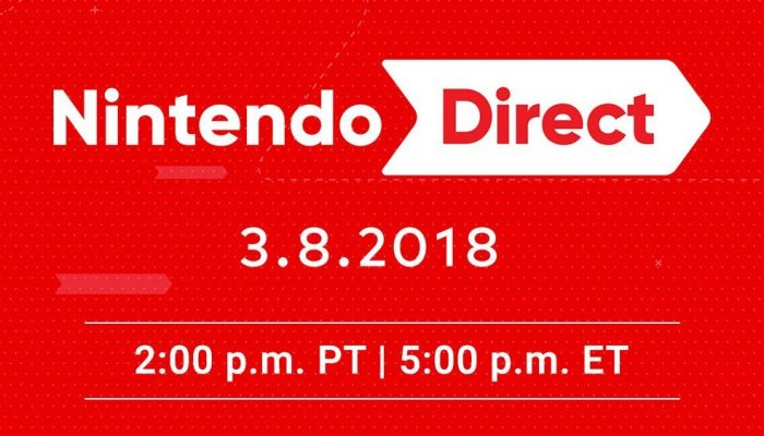 Nintendo Direct announced for March 8 at 2 PM PT