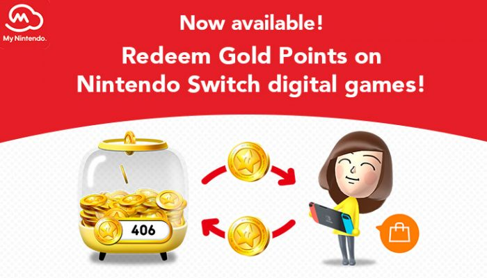 NoA: 'Now available: Use Gold Points on digital games for the Nintendo Switch system'