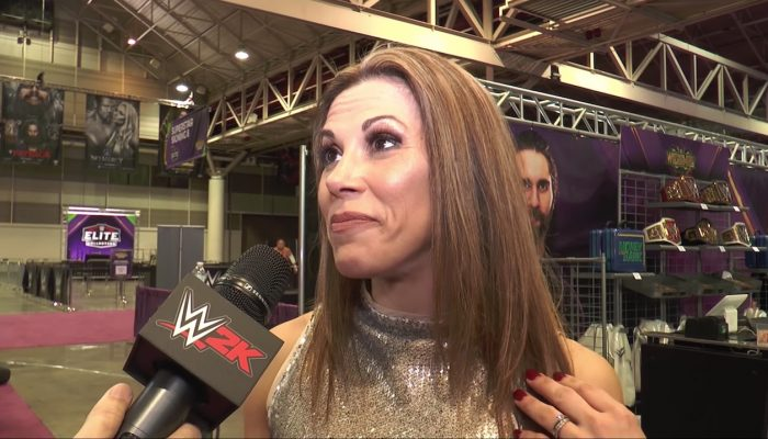 WWE 2K18 – Interview with Mickie James