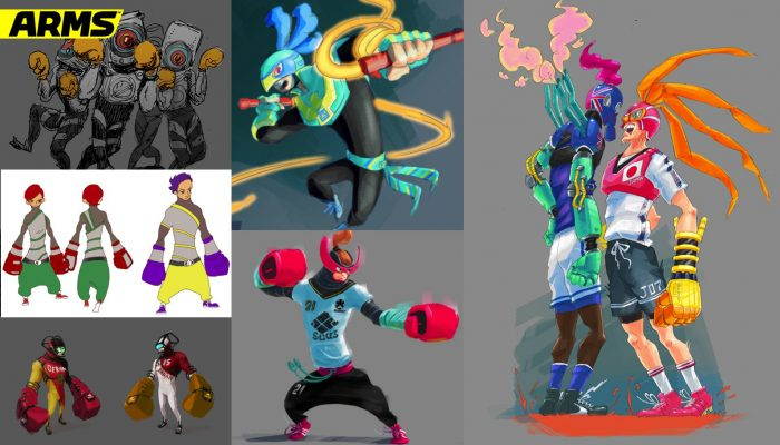 A look at some the early character concept art for Arms