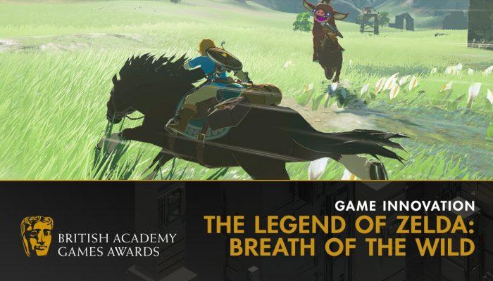 The Legend of Zelda Breath of the Wild wins Game Innovation BAFTA award