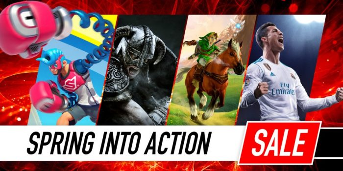 Nintendo eShop Sale Spring into Action Sale