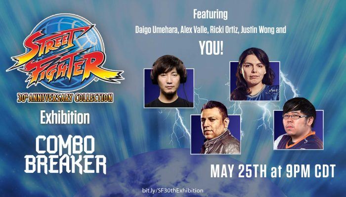 Capcom: 'Street Fighter 30th Anniversary Collection Exhibition at Combo Breaker 2018!'
