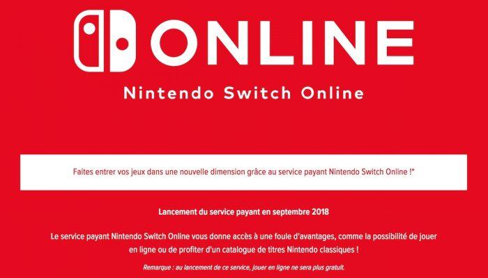 Nintendo France : 'De nouvelles informations sur le service payant Nintendo Switch Online qui sera lancé en septembre'