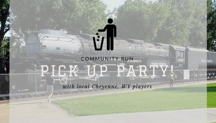 A community clean up event in Cheyenne for May's Pokémon Go Community Day