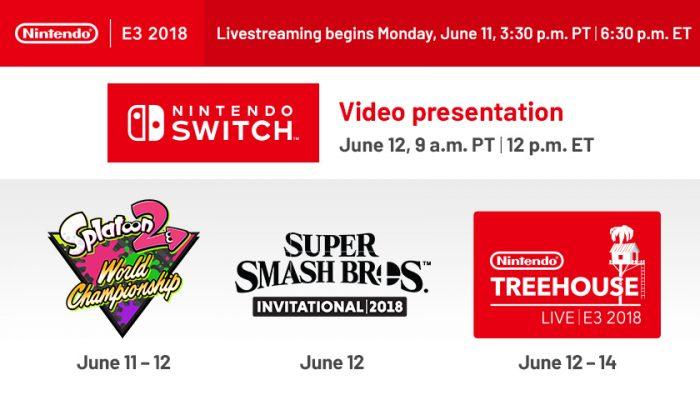 NoA: 'Nintendo outlines plans for E3 2018'