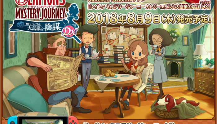 Layton's Mystery Journey is coming to Nintendo Switch