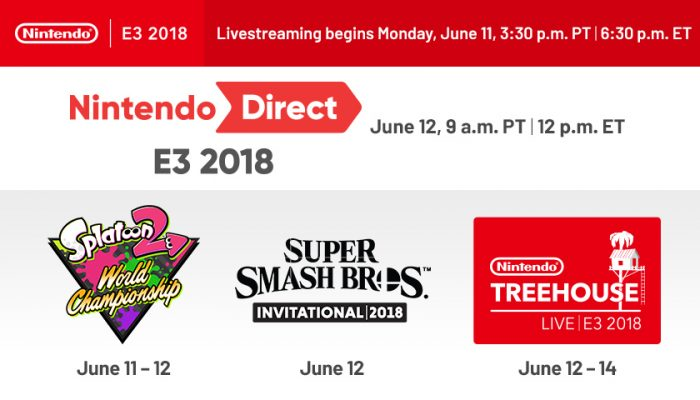 NoA: 'A handy guide to Nintendo's events at E3 2018'