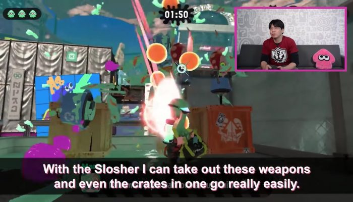 Splatoon 2 – Dev. Tips with Mr. Nogami Pt. 3: The Ink Raining Slosher