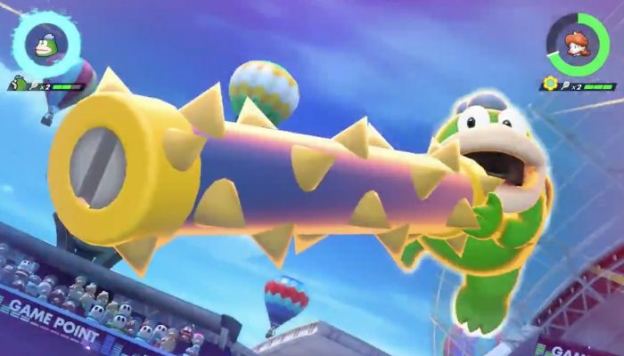 Spike and Chain Chomp gameplay in Mario Tennis Aces