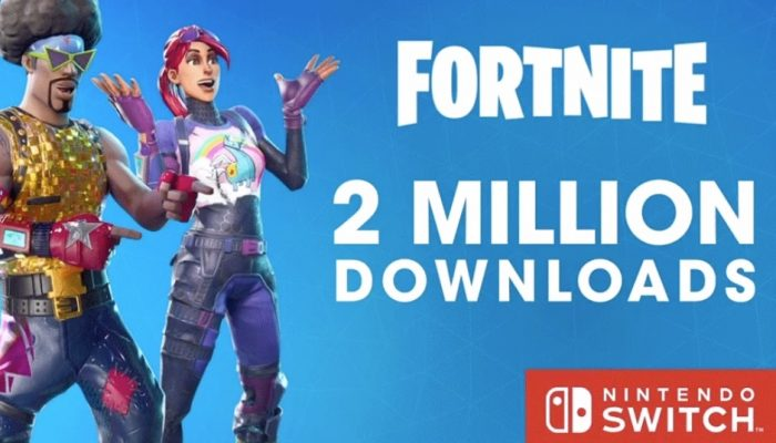 Fortnite reaching more than two million downloads on Nintendo Switch in less than a day