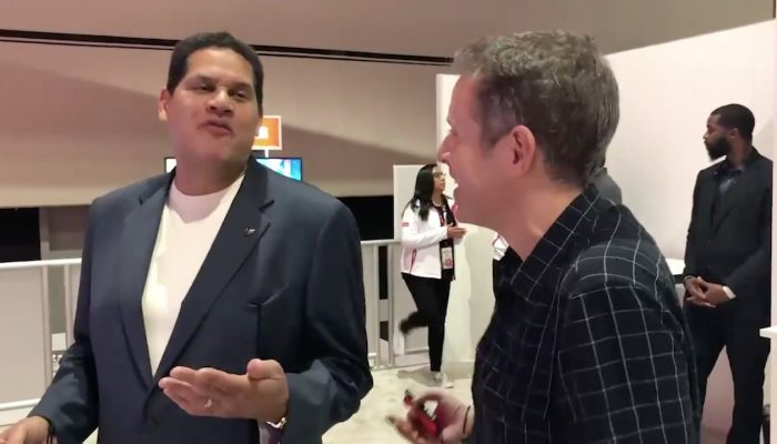 Geoff Keighley vs. Reggie Fils-Aimé in Mario Tennis Aces at E3 2018