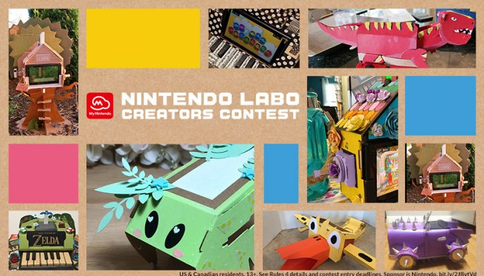 NoA: 'Winners announced for the Nintendo Labo Creators Contest Best Decorated Toy-Con category!'
