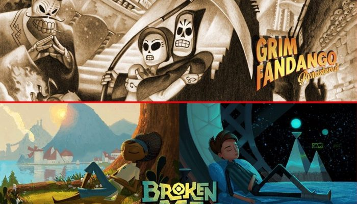 Grim Fandango Remastered and Broken Age are coming to Nintendo Switch