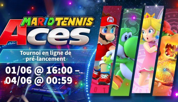 Nintendo France : 'La démo du tournoi en ligne de pré-lancement de Mario Tennis Aces a commencé !'