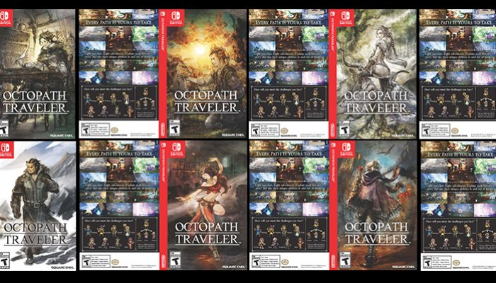 Adorn your Octopath Traveler game case with your favorite character through My Nintendo