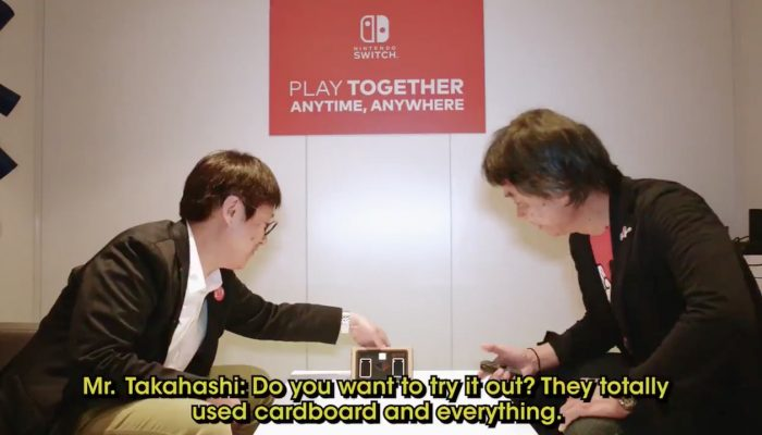 Miyamoto vs. Takahashi in Milk for Nintendo Labo