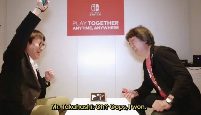 Miyamoto vs. Takahashi in Beach Flag for Nintendo Labo