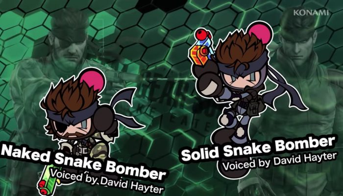 Naked Snake, Solid Snake, Motherbase maps and more added to Super Bomberman R