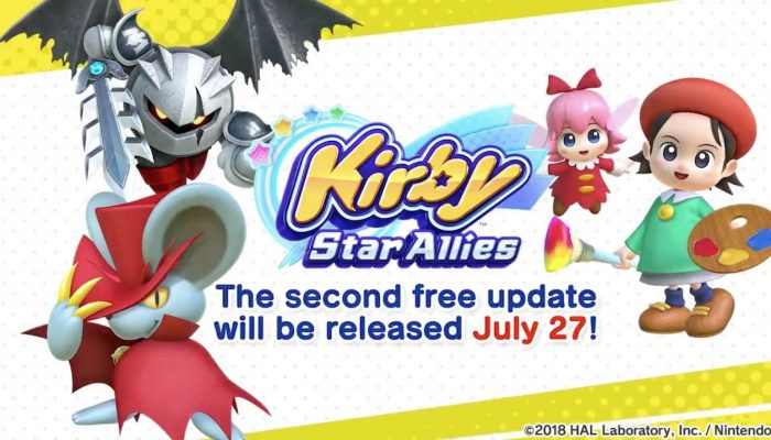 Kirby Star Allies second free update launches July 27