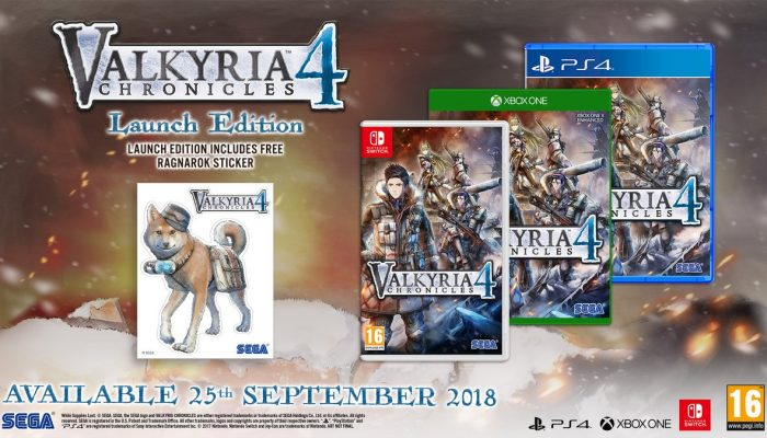 A special treat for the European Valkyria Chronicles 4 Launch Edition