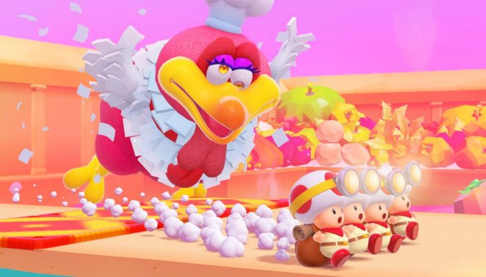 Here's the Luncheon Kingdom in Captain Toad Treasure Tracker