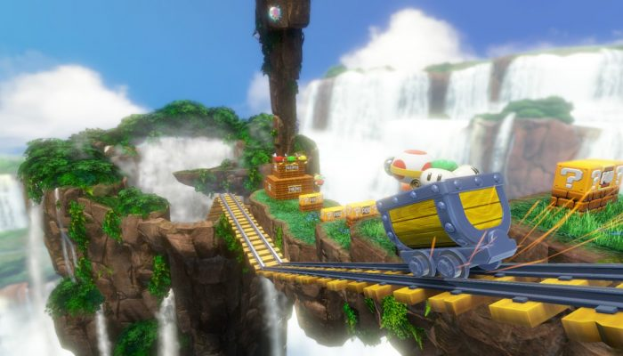 Here's the Cascade Kingdom in Captain Toad Treasure Tracker