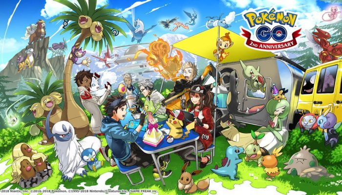 Pokémon Go gets an artwork for its second-year anniversary