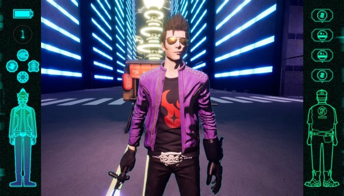 Travis Touchdown promoting Dead Cells in Travis Strikes Again No More Heroes