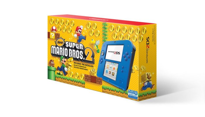 Nintendo 2DS Electric Blue systems to include New Super Mario Bros. 2 in North America