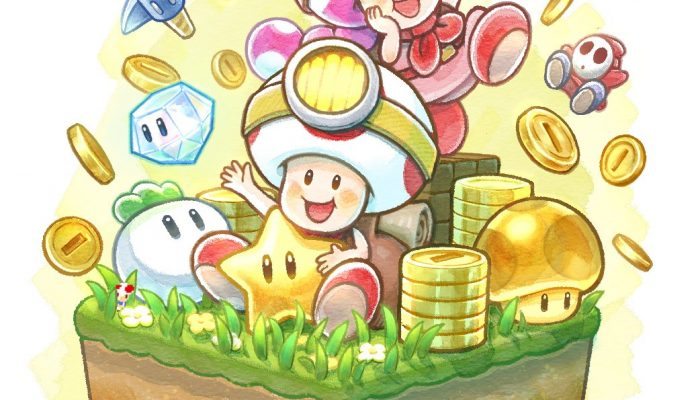 A new illustration for the launch of Captain Toad Treasure Tracker on Nintendo Switch