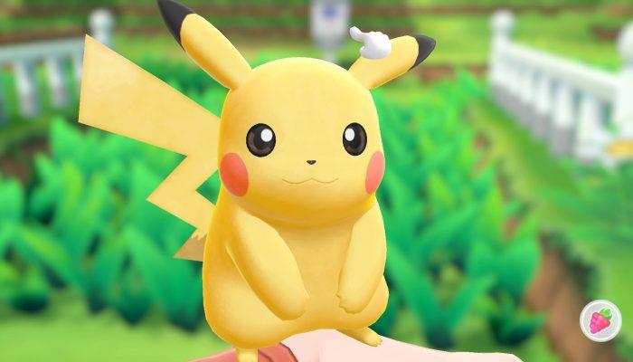 Bonding with you partner Pokémon in Pokémon Let's Go Pikachu and Let's Go Eevee