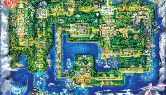 Here's the map of Kanto in Pokémon Let's Go Pikachu and Let's Go Eevee